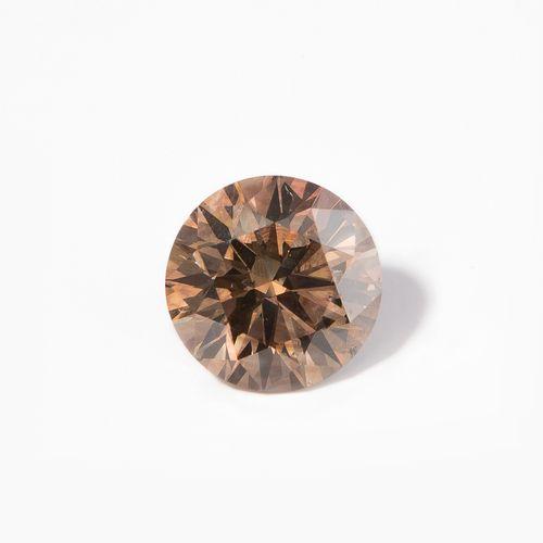 Loser Diamant diamant libre  2.06 ct, fantaisie brun orangé profond, couleur nat…