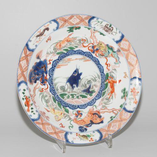 Teller Plaque  Chine, 19e/20e s. Porcelaine. Dans le style de la porcelaine Imar…