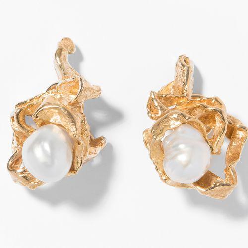 Gilbert Albert Südsee Kulturperlen Ohrclips Clips d'oreille en perles de culture…