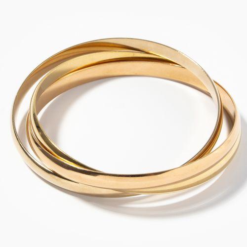 """Cartier Armreife """"Trinity"""" Bracelet """"Trinité"""" de Cartier  Or 750 tricolore. Sign…"""