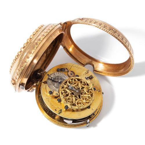 Email Spindeltaschenuhr, Dufalga, Genève, um 1780 珐琅纺锤形怀表,Dufalga,日内瓦,约1780年。  金…