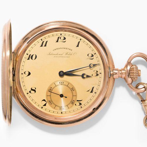 IWC Gold Savonette Taschenuhr, 1914 IWC Gold Savonette怀表, 1914年  径向扭索纹三层红金表壳(585…