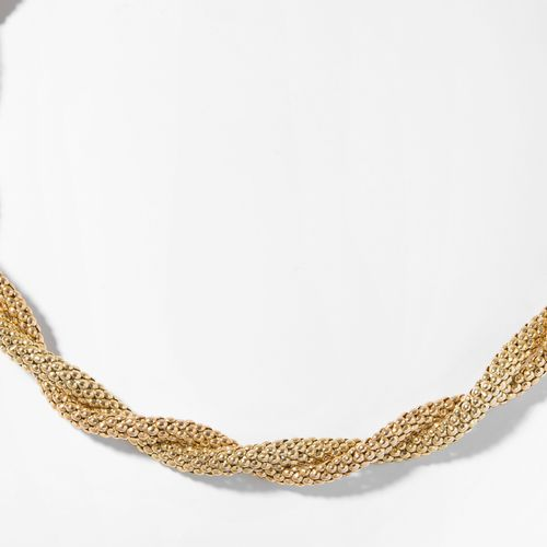 Bicolor Collier 双色项链  意大利。750黄金/红金。覆盆子图案。长45厘米,重89.8克。