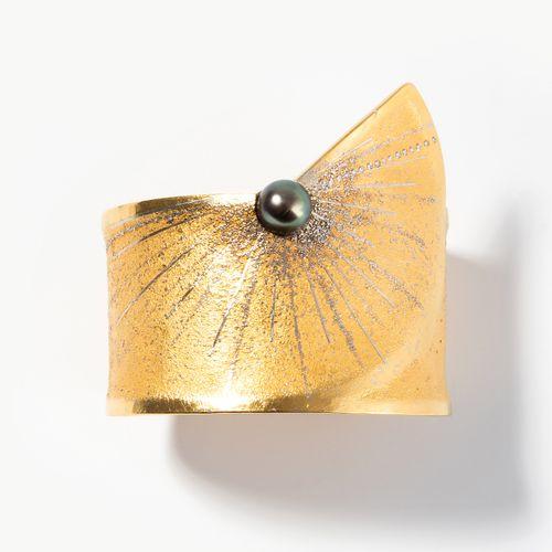 Zobel Kulturperle Brillant Armspange Bracelet en perles de culture de zibeline  …
