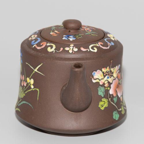 Teekanne Théière  Chine, 20e siècle. Poterie de Yixing. Avec timbre en relief. G…