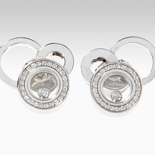 Chopard Brillant Ohrstecker Boucles d'oreilles en diamant Chopard  Or blanc 750.…