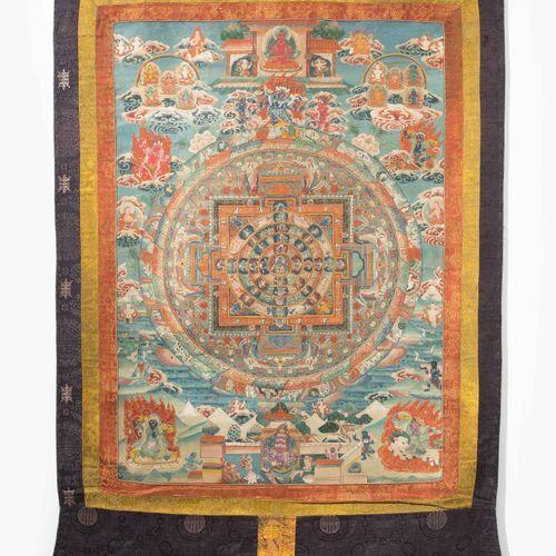 Mandala des Vajrabhairava Mandala de Vajrabhairava  Tibet. 20e siècle. Peinture …
