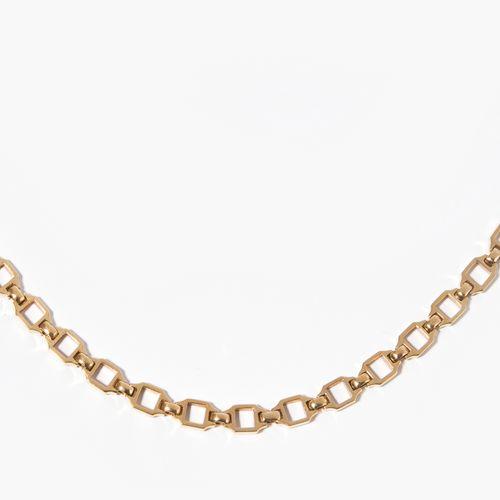 "Cartier Lange Kette 卡地亚长链  750黄金。有签名和编号的 ""Cartier 220990""。长60厘米,重36.9克。"