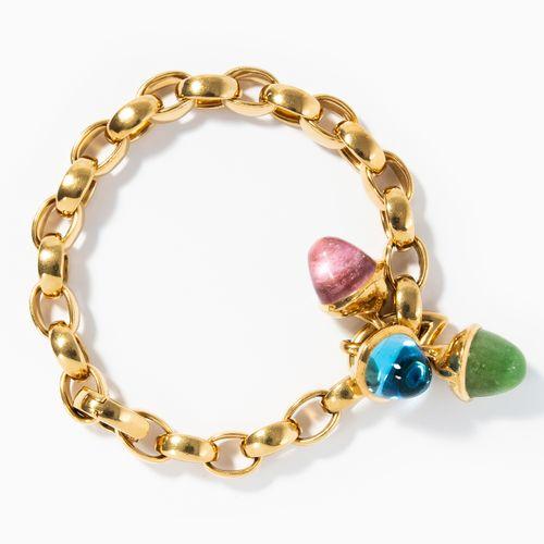 EDELSTEIN BRACELET Bracelet de pierres précieuses  Tamara Comolli. Or jaune 750.…