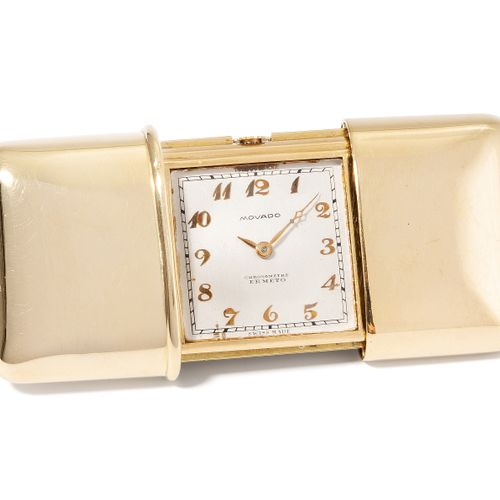 "Movado ""Chronometre Ermeto"" Reiseuhr, 1928 摩凡陀 ""Chronometre Ermeto ""旅行钟, 1928年  …"