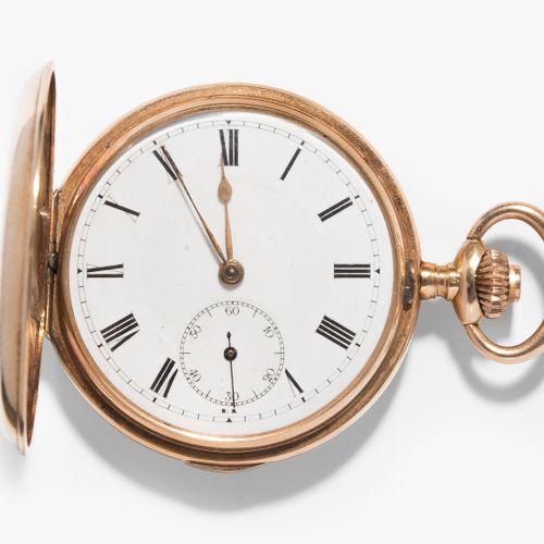 Kleine Gold Savonette Taschenuhr, 1905 Petite montre de poche pavonette en or, 1…