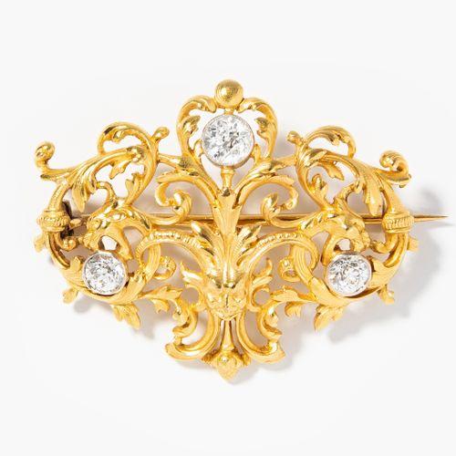 DIAMANT BROSCHE Broche en diamant  Fin du 19ème siècle. Marque d'importation Fra…