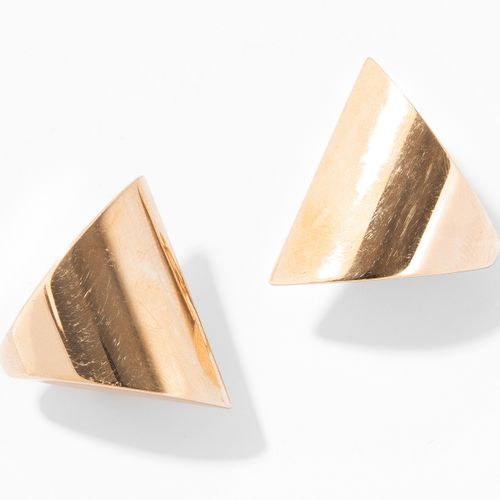 GOLD OHRCLIPS Clips d'oreille en or  Or jaune 750. Forme triangulaire, 2,5 cm, 1…
