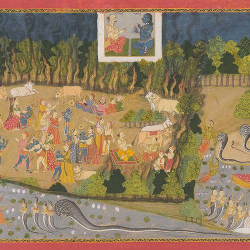 Miniaturmalerei Peinture miniature  Inde, XIXe siècle. Probablement la région du…