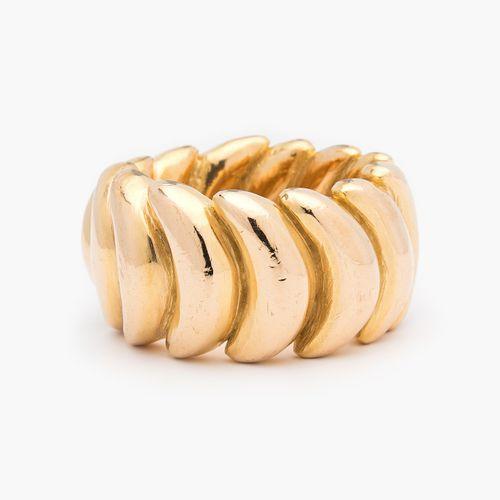 Gelbgold Ring Bague en or jaune  Or jaune 750. Motifs massifs en forme de croiss…