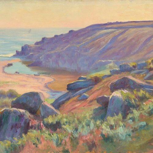 Charles WISLIN (1852 1932)  La plage de Rospico depuis les hauteurs  Huile sur t…