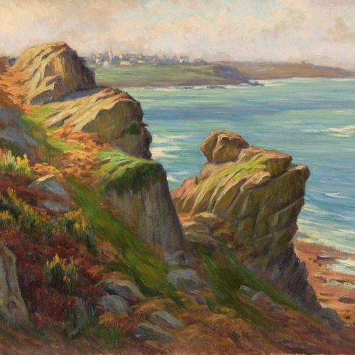 Charles WISLIN (1852 1932)  Clarity as seen by Trestrigniel  Oil on canvas.  Sig…