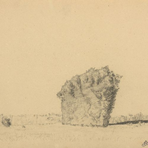 Louis HAYET (1864 1940)  Large haystack in the vicinity of Auvers, c. 1898  Penc…