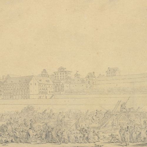 Jean DUPLESSIS BERTAUX (1750 1818)  Scene of the Revolution  Pencil on paper.  1…