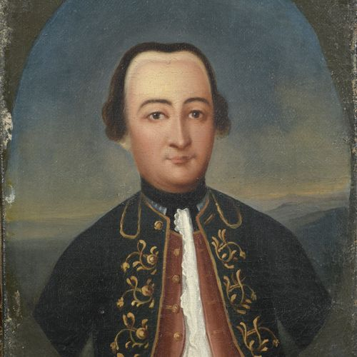 Nineteenth Century School  Portrait of an 18th century gentleman  Oil on canvas.…