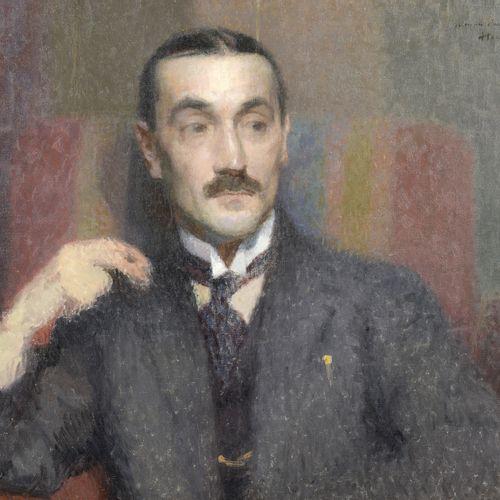 Henri MARTIN (1860 1943)  Portrait of the painter Casasus  Oil on canvas.   Sig…