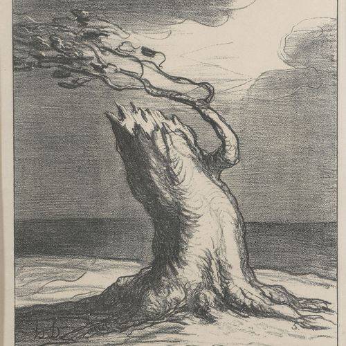 According to Honoré DAUMIER (1808 1879)  Poor France and The Eunuchs  Two lithog…