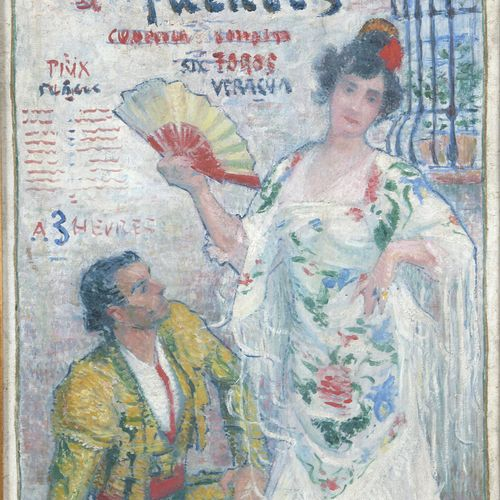 Jean DIFFRE (1864 1921)  Poster project for a bullfight Toros Paris, July 14, ci…