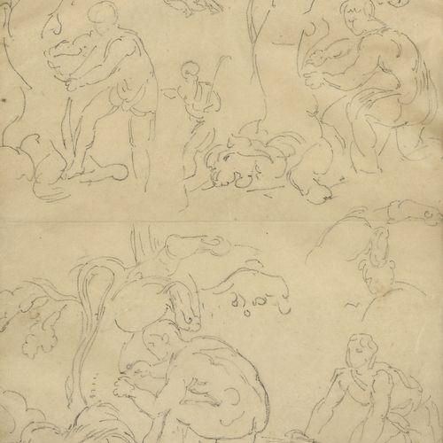 Eugène DELACROIX (1798 1863)  Hercules and the Lion of Nemea, c. 1853  Pencil on…