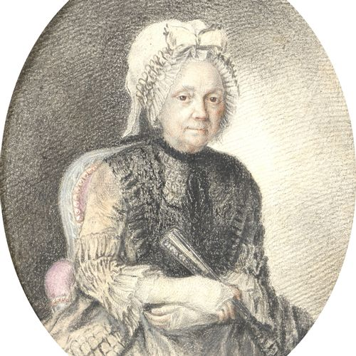 18th century FRENCH school, in the taste of COCHIN  Oval portrait of a woman wit…