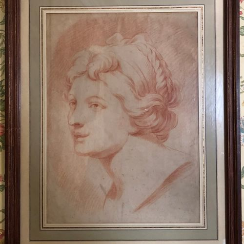 French School  Portrait of a woman in profile  Late 18th early 19th century  San…