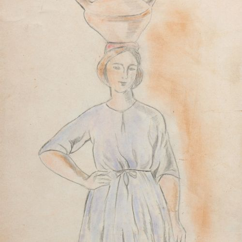 After Ramiro ARRUE (1892 1971)  Seven drawings :   Spectators of a regatta  Wate…
