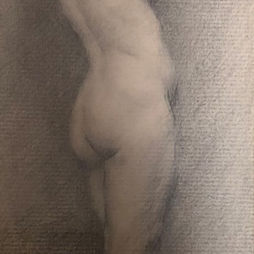 Alfred MARTIN (1888 1950)  Study of a Standing Nude Woman  Pencil  Signed and an…