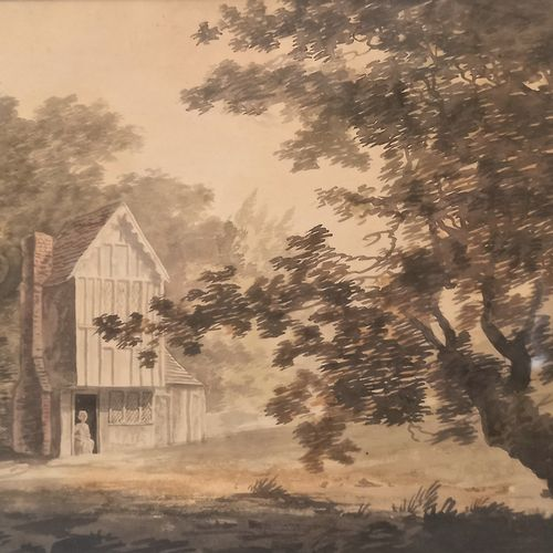 Dutch school of the late 18th century  Two animated scenes near a sheepfold  Wat…