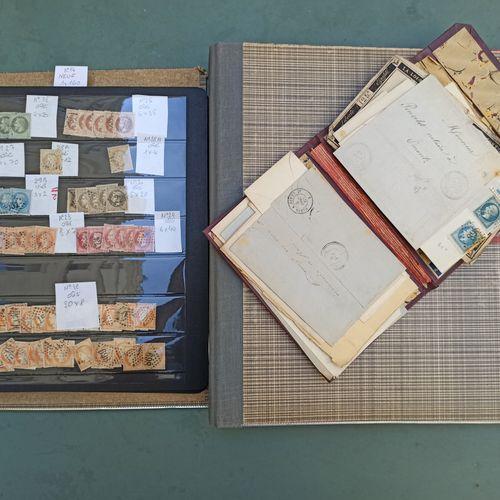 Ensemble de timbres français et belges, comprenant un classeur et un assignat.