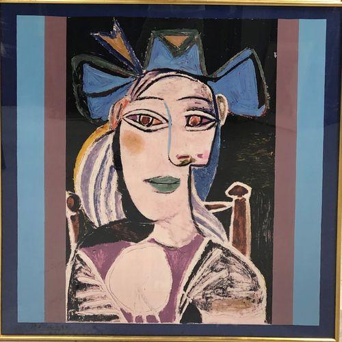 Pablo PICASSO (1881 1973)  Six foulards encadrées, édition Marigold Enterprises …