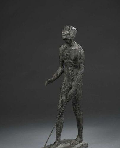 Albert BOUQUILLON (1908 1997)  L'Aveugle, 1958  Maquette, plâtre original patiné…