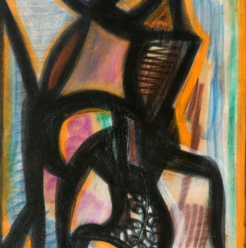 Jean Michel ATLAN (1913 1960)  Sans titre, 1957  Pastel sur papier signé en ba…