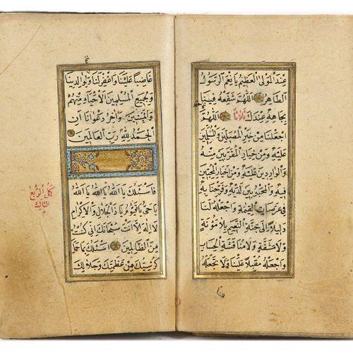 AN ILLUMINATED COLLECTION OF PRAYERS, INCLUDING DALA'IL AL KHAYRAT, SIGNED AL HA…