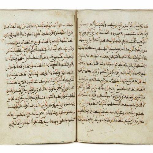 A PART OF QURAN, NORTH AFRICA, DATE 1132 AH/1718 AD Part of Koran handwritten on…