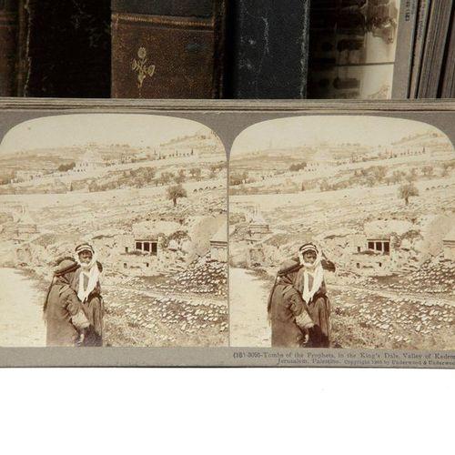 THE UNDERWOOD TRAVEL LIBRARY, PALESTINE 83 vues stéréoscopiques numérotées et lé…