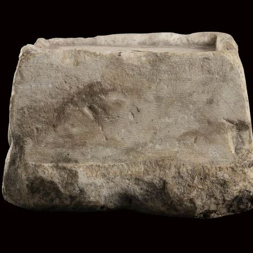 ROMAN MARBLE MODEL OF A TEMPLE PODIUM  1st 2nd century AD  height cm 15; length …