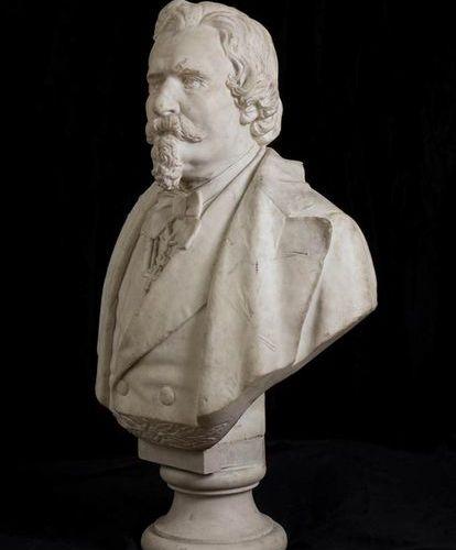 GAETANO RONCA (attivo nella seconda metà del XIX secolo) Busto in marmo del poet…