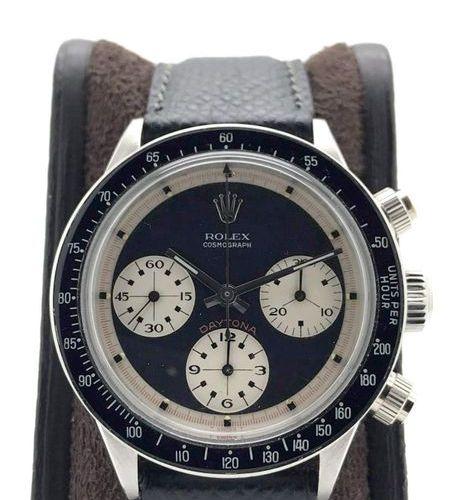 "Rolex Daytona ""Paul Newman"" 6240 wide t swiss t Three color black dial circa 196…"
