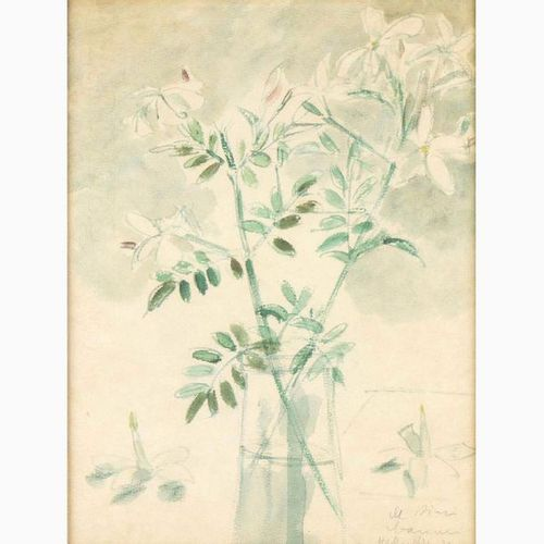 FILIPPO DE PISIS  Ferrara, 1896 Brugherio, 1956 Vase of flowers, 1932 Watercolor…