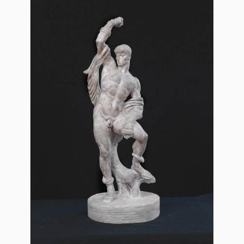 SILVIO CANEVARI  Viterbo, 1893 Rome, 1932 Il Pugilatore, 1930 Patinated plaster …