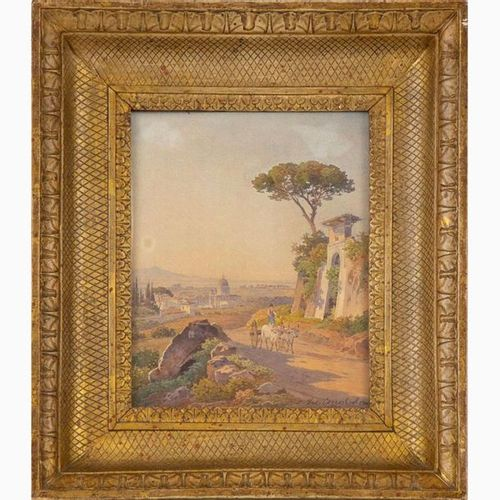 HERMANN DAVID SALAMON CORRODI  Frascati, 1844 Rome, 1905 View of Saint Peter fro…