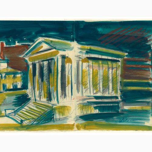 ANSELMO BUCCI  Fossombrone, 1887 Monza, 1955 Temple of Porturno, 1933 Pencil, ch…