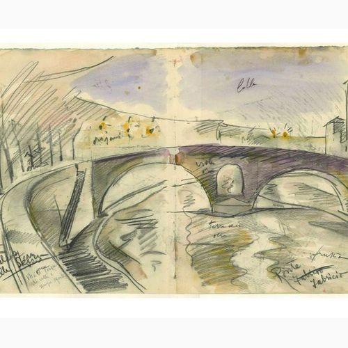 ANSELMO BUCCI  Fossombrone, 1887 Monza, 1955 Ponte Fabricio / Isola di San Barto…