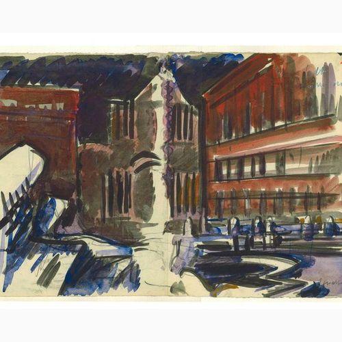 ANSELMO BUCCI  Fossombrone, 1887 Monza, 1955 Piazza di Trevi / View of the Trevi…