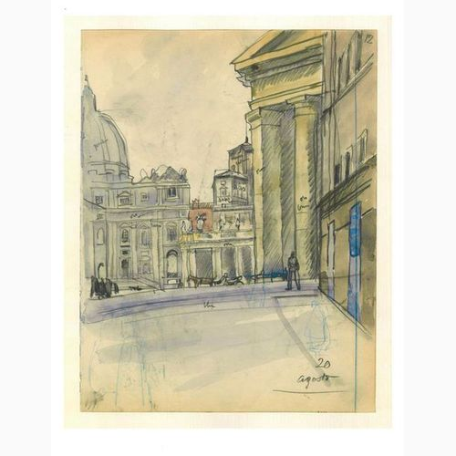 ANSELMO BUCCI  Fossombrone, 1887 Monza, 1955 View of St. Peter's Square, 1938 Ch…